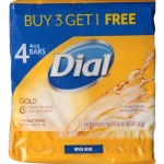 Dial Bar Soap Gold 4-Pack