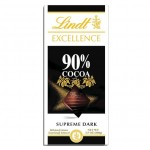 Lindt Excellence Supreme Dark Chocolate Bar 90% Cocoa