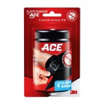 Ace Elastic™ Compression Bandage with Clips, 4 in, Black