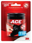 Ace™ Elastic Compression Bandage with Clips, 3 in, Black