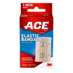 Ace™ Elastic Compression Bandage with Clips, 3 inch