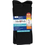 Medipeds Compression Socks, Large, Black, 2pr