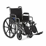 Medline Comfort Driven Wheelchair w/Removable Desk Arms and Elevating Leg Rests, 18