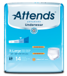 Attends Advanced Adult Incontinence Underwear, Extra Large, -14CT