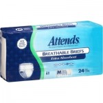 Attends Breathable Briefs, Extra Absorbency, Medium, - 24CT
