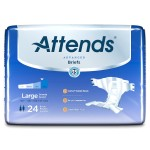 Attends Dermadry Complete Briefs, Large- 24 CT