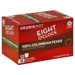 Eight O'Clock Colombian Peaks Medium Roast Coffee K-Cup Packs - 12 CT
