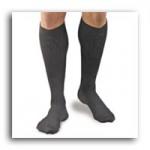 FLA Activa Men's Microfiber Pin Stripe Dress Sock, 20-30mmHg, Medium