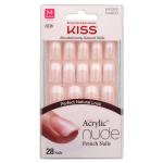 Kiss Salon Acrylic Nude French Fingernails