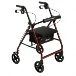 Drive Medical Rollator Walker with Fold Up & Removeable Back Support & Padded Seat
