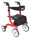 Drive Medical Euro Style Rollator Walker, Red
