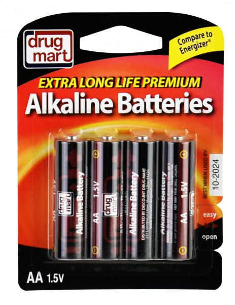 DDM Battery Premium Alkaline AA 4 Pack