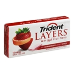 Trident Layers Sugar Free Gum Wild Strawberry+Tangy Citrus - 14 CT