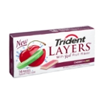 Tridents Layers Cherry + Lime Sugar Free Gum- 14 CT