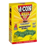 d-Con Kills Mice Bait Station Blocks - 4 CT