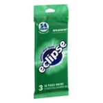 Wrigley's Eclipse Spearmint Sugarfree Gum 18 Pieces 3 Pack