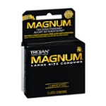 Trojan Large Size Condoms Magnum - 3 CT