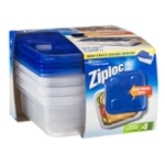 Ziploc Small Square Containers & Lids - 4 CT