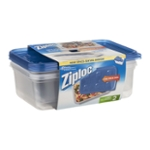 Ziploc One Press Seal Large Rectangle - 2 CT
