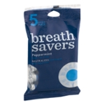 Breath Savers Peppermint Sugar Free Mints(5-Roll Pack)