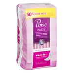 Poise Incontinence Pads, Maximum Absorbency, Long, 64 Count