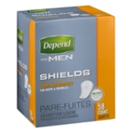 Depend for Men Shields, Light Absorbency - 58 CT