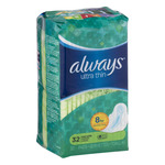 Always Ultra Thin Pads Long Super - 32 CT