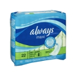 Always Maxi without Wings Long/Super Pads - 22 CT