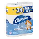 Charmin Ultra Soft Bathroom Tissue Mega Rolls - 6 CT