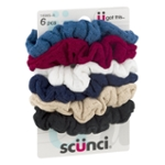 Scunci Hair Scrunchies Assorted Colors - 6 PC