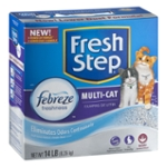 Fresh Step Multi-Cat with Febreze Freshness, Clumping Cat Litter, Scented, 14 Pounds