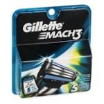 Gillette Mach 3 Cartridges - 5 CT