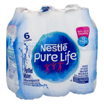 NESTLE PURE LIFE Purified Water 6-16.9 fl. oz. Bottles