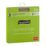 No nonsense Control Top Pantyhose Size B Tan Reinforced Toe - 1 PR