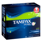 Tampax Pearl Super Absorbency Tampons - 36 CT
