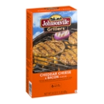 Johnsonville Grillers Cheddar Cheese & Bacon Patties - 6 CT