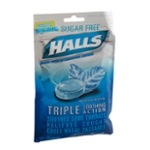 Halls Advanced Formula Sugar Free Triple Soothing Action Mountain Menthol Cough Suppressant Drops - 25 CT