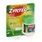 Zyrtec 24 Hour Allergy Relief Tablets, Antihistamine Allergy Medicine with 10 mg Cetirizine HCl, 30 ct