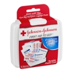 Johnson + Johnson First Aid To Go! Essential First Aid Items - 12 CT