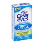 Clear Eyes Triple Action Lubricant/Redness Reliever Eye Drops