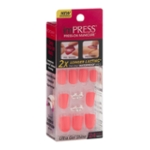 ImPRESS Press-On Manicure Ultra Gel Shine Gel Nails Estatic Cling - 24 CT