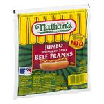 Nathan's Jumbo Restaurant Franks Beef - 5 CT