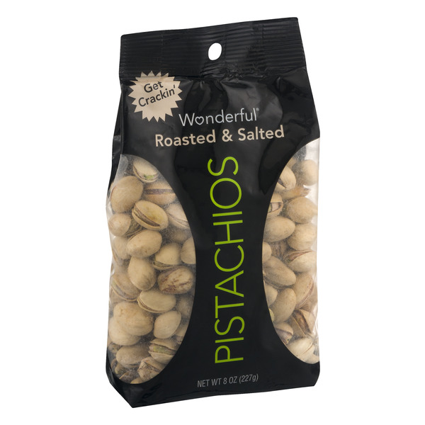 Wonderful Pistachios, Roasted and Salted, 8 Ounce Bag