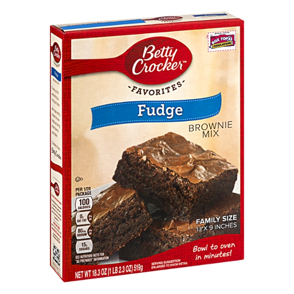 Betty Crocker Fudge Brownie Mix Family Size, 18.3 oz