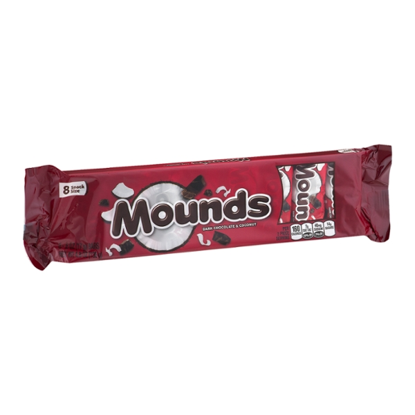 MOUNDS Snack Size Candy Bars, 8 Count
