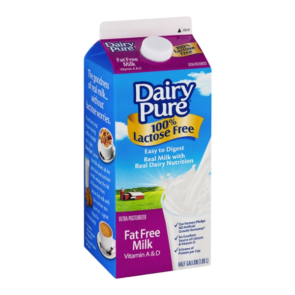 Dairy Pure 100% Lactose Free Fat Free Milk Vitamin A & D