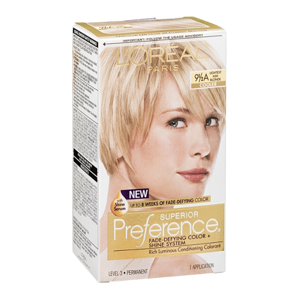 L'Oreal Paris Superior Preference Fade-Defying Color + Shine System 9 1/2A Lightest Ash Blonde/Cooler