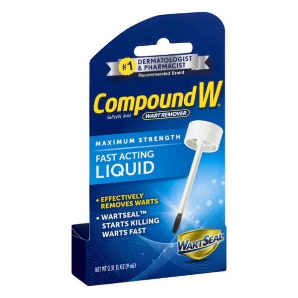 CompoundW Wart Remover Maximum Strength Fast Acting Liquid