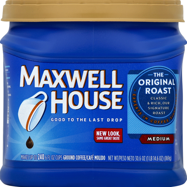 Maxwell House Coffee, Ground, Medium, The Original Roast