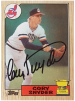 Indians - Cory Snyder Signed Baseball Card